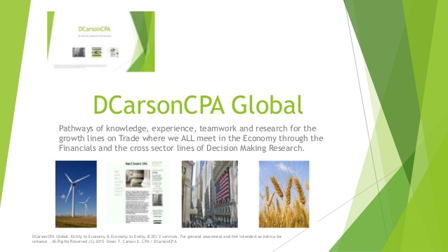 DCarsonCPA Global on Services and Applied Research / CALs lines