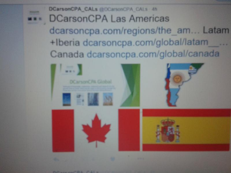 DCarsonCPA Global  the Americas Lines on Regional Services and Research