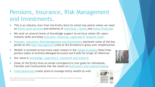 DCarsonCPA PIRI Lines on Pensions, Investments, Risk and Insurance