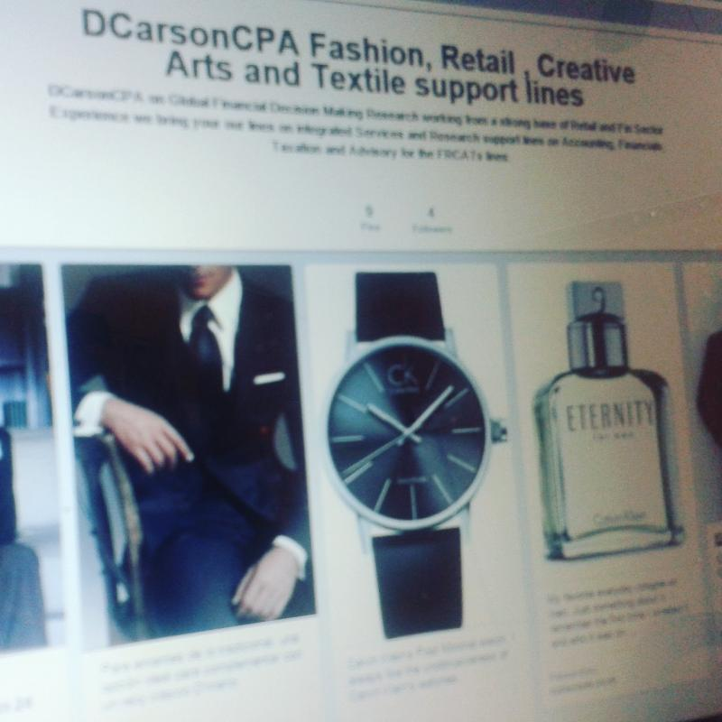 DCarsonCPA on Fashion, Retail, Creative Arts and Textiles (FRCATs)