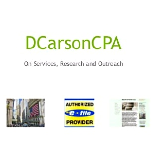 DCarsonCPA on Tax Services, Accounting, Financials, Advisory www.dcarsoncpa.com
