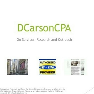 DCarsonCPA and Related lines DCarsonCPANET, MFC One, GRLSTEM, Advisory + more